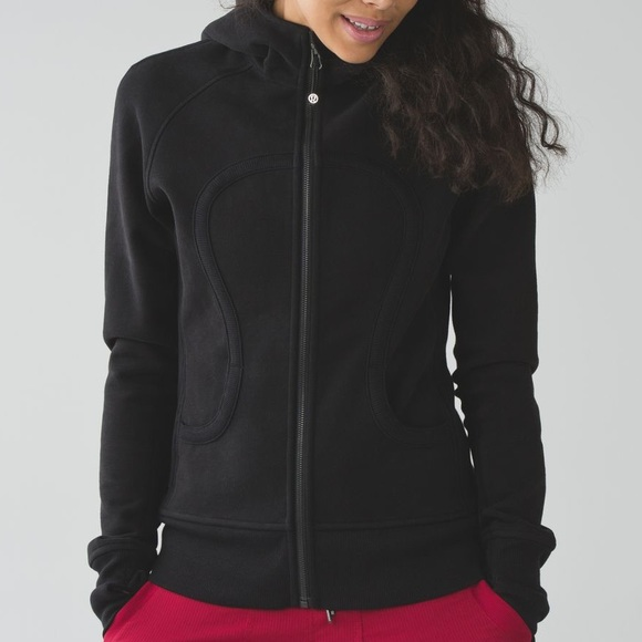 Lululemon Scuba Fleece Zip Up Hoodie Black Sz 8